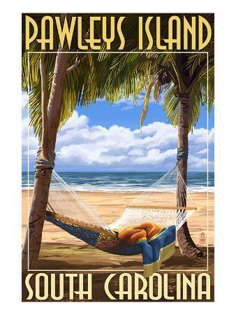 Pawleys Island, South Carolina - Palms and Hammock