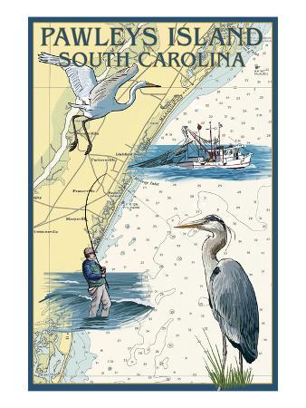 Pawleys Island, South Carolina - Nautical Chart