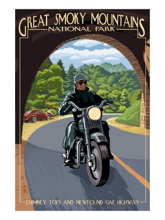 Motorcycle and Tunnel - Great Smoky Mountains National Park, TN
