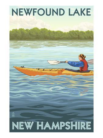 Newfound Lake, New Hampshire - Kayak Scene