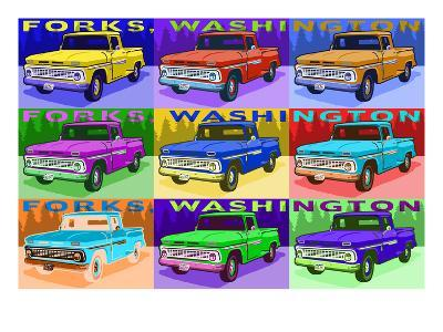 Forks, Washington - Bella's Truck Pop Art