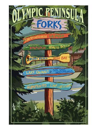 Forks, Washington - Sign Destinations