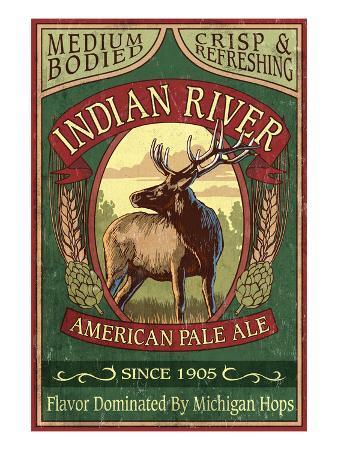 Indian River, Michigan - Elk Pale Ale