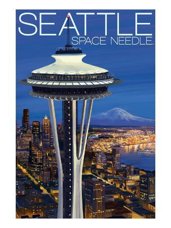 Space Needle Aerial View - Seattle, WA