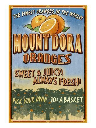 Mount Dora, Florida - Orange Orchard Sign