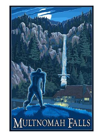 Multnomah Falls, Oregon - Bigfoot