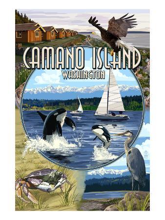 Camano Island, Washington - Montage