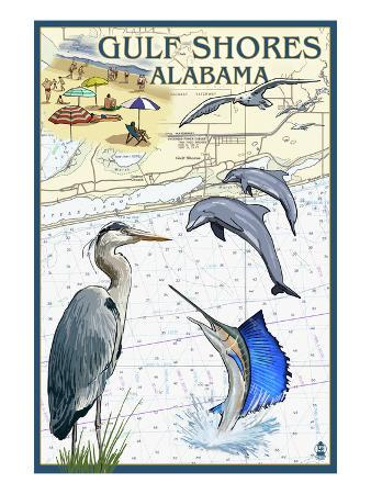 Gulf Shores, Alabama - Nautical Chart