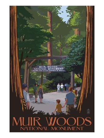 Muir Woods National Monument, California - Entrance