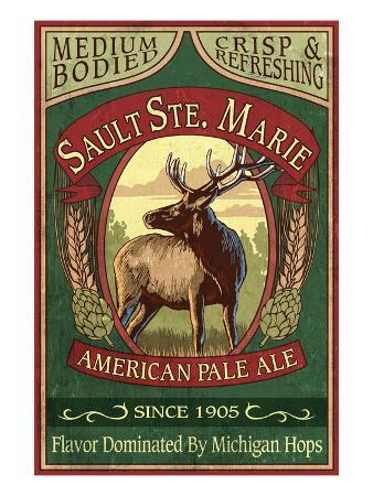 Sault Ste. Marie, Michigan - Elk Pale Ale