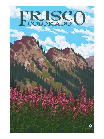 Frisco, Colorado - Fireweed and Mountains