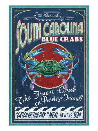 Pawleys Island, South Carolina - Blue Crabs