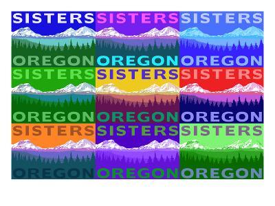 Sisters, Oregon - Mountains and Meadow Pop Art