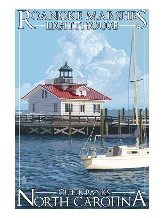 Roanoke Marshes Lighthouse - Outer Banks, North Carolina