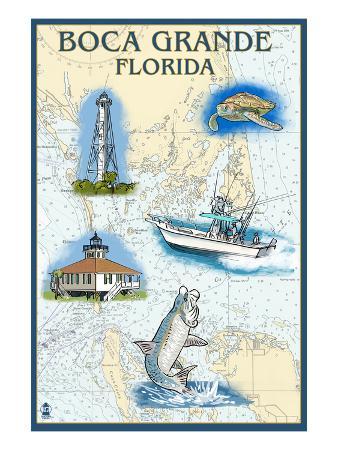 Boca Grande, Florida - Nautical Chart