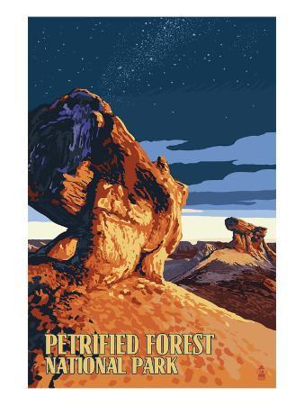 Desert at Dusk - Petrified Forest National Park