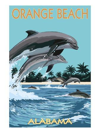 Orange Beach, Alabama - Dolphins Jumping