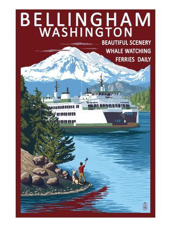 Bellingham, Washington - Ferry Scene