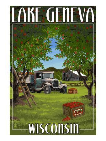 Lake Geneva, Wisconsin - Apple Harvest