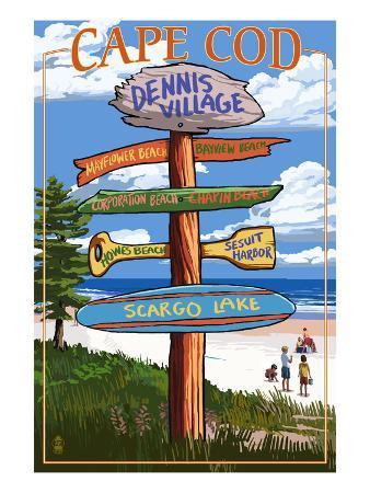 Dennis Village, Cape Cod, Massachusetts - Sign Destinations