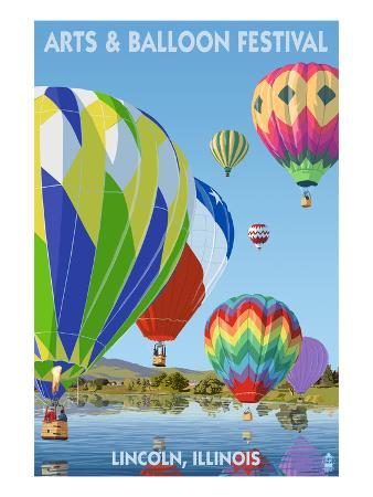 Lincoln, Illinois - Illinois Arts and Balloon Festival - Hot Air Balloons