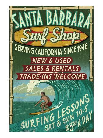 Santa Barbara, California - Surf Shop