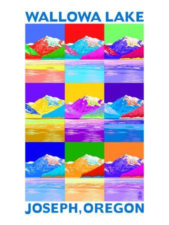 Wallowa Lake, Oregon - Pop Art