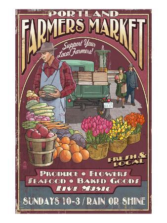 Portland, Oregon - Farmer's Market