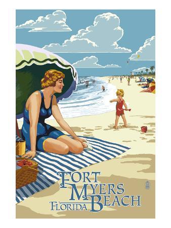 Beach Scene - Fort Myers Beach, Florida