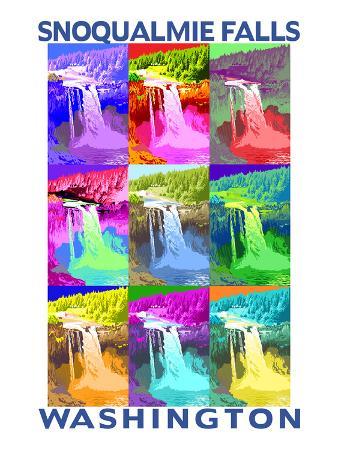 Snoqualmie Falls, Washington - Pop Art