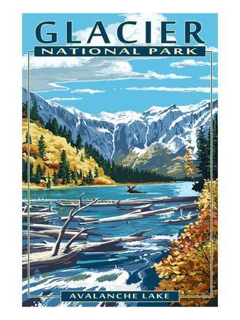 Avalanche Lake - Glacier National Park, Montana
