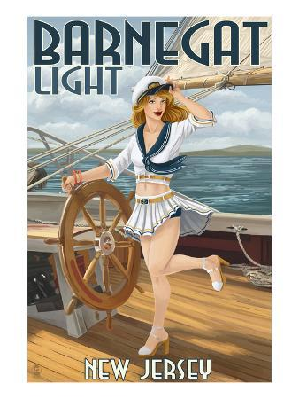 Barnegat Light, New Jersey - Pinup Girl Sailing