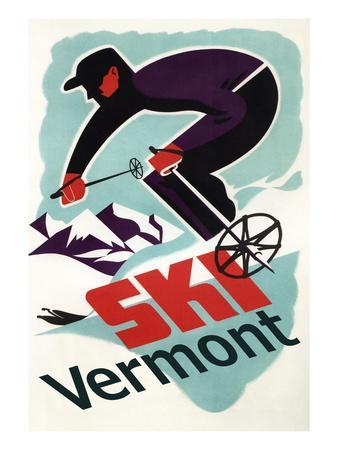 Ski Vermont - Retro Skier