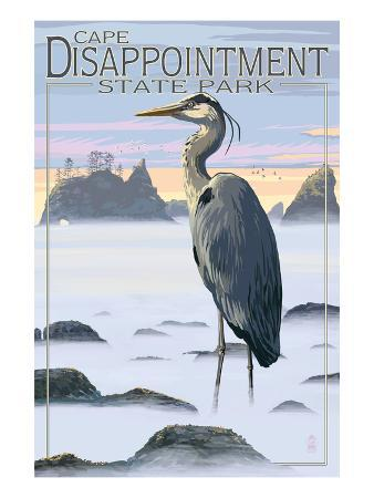 Cape Disappointment State Park - Heron and Fog Shorline