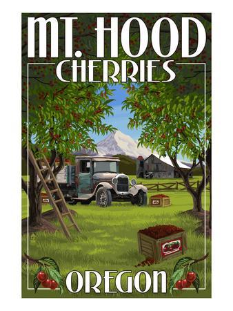 Mt. Hood, Oregon Cherries
