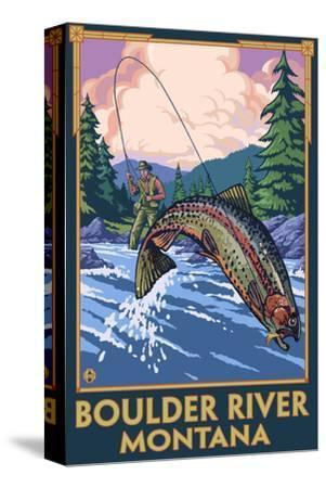 Boulder River, Montana - Fly Fishing Scene