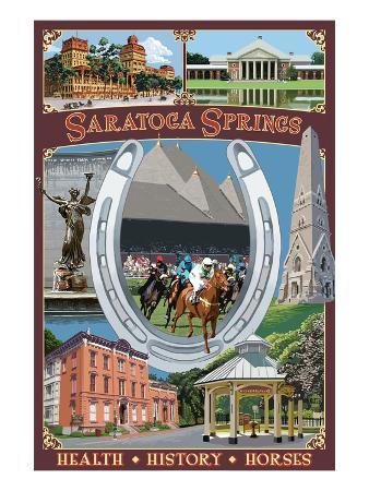 Saratoga Springs, New York - Town Montage