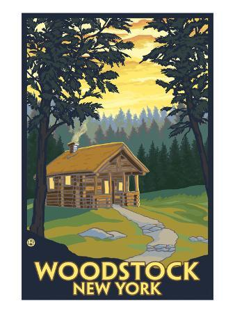 Woodstock, New York - Cabin Scene