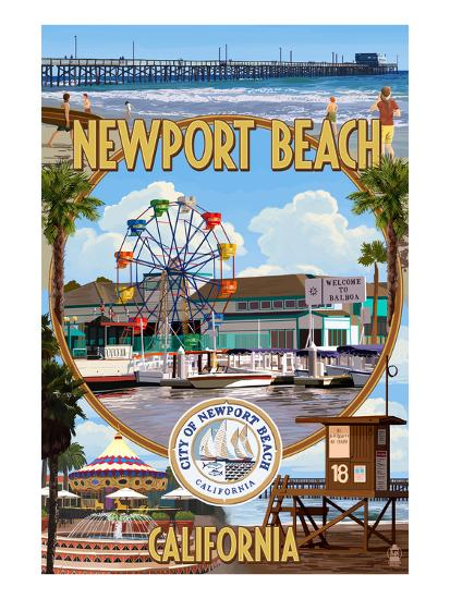 Newport Beach California Montage