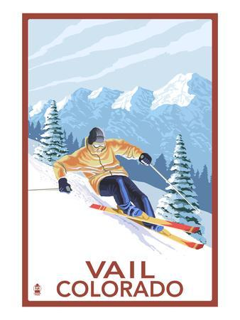 Vail, CO - Vail Downhill Skier