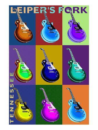 Leiper's Fork, Tennessee - Guitar Pop Art