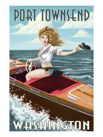 Port Townsend, Washington - Pinup Girl Boating
