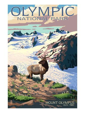 Mt. Olympus and Elk - Olympic National Park, Washington