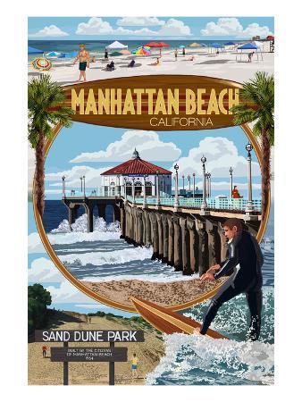 Manhattan Beach, California - Montage Scenes