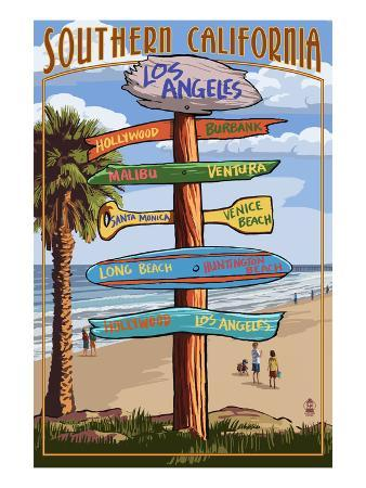 Southern Los Angeles, California - Destination Sign