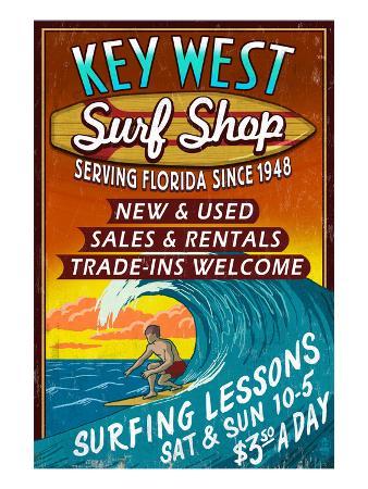 Key West, Florida - Surf Shop