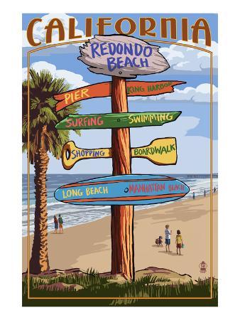 Redondo Beach, California - Destination Sign