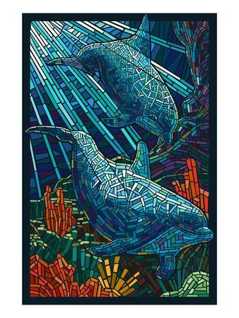 Dolphin - Paper Mosaic
