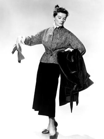 Desk Set, Katharine Hepburn Modeling Outfit, 1957