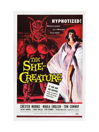 The She-Creature, Paul Blaisdell, Marla English, 1956